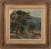 Sale 8871H - Lot 112 - Robert Taylor Ghee - Figure on Track 28cm x 30cm