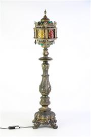 Sale 8897 - Lot 73 - Brass Moroccan Style Lamp (H76.5cm)
