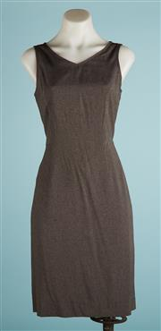 Sale 9071F - Lot 80 - A ALLURE GREY A LINE MID sleeveless dress size 8