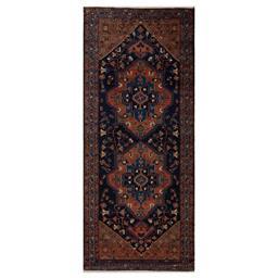 Sale 9090C - Lot 35 - Persian Nomadic Shahsavan Runner, 130x305cm, Handspun Wool