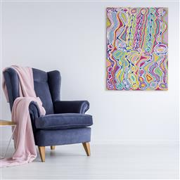 Sale 9128A - Lot 5043 - Judy Watson Napangardi (1925 - 2016) - Mina Mina Dreaming, 2009 90 x 120 cm (stretched and ready to hang)