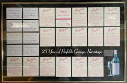 Sale 9173W - Lot 717 - Penfolds 25 Years of Penfolds Grange Hermitage Poster, framed