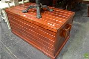 Sale 8489 - Lot 1039 - Pine Lift Top Trunk