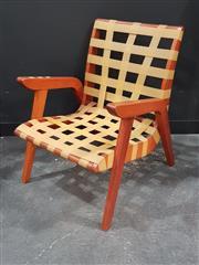 Sale 8765 - Lot 1049A - Douglas Snelling Style Armchair with Original Webbing