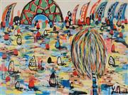 Sale 8826A - Lot 5003 - Yosi Messiah (1964 - ) - Colourful Harbour 91.5 x 122cm