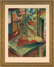 Sale 8841 - Lot 2034 - Artist Unknown - Interior Scene 55 x 42cm