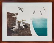 Sale 8961 - Lot 2088 - P. Griffith, Masked Boobies, Lithograph, 49.5x65.5cm