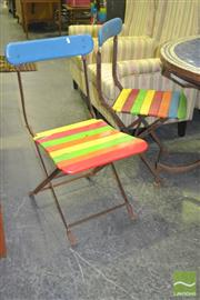Sale 8284 - Lot 1046 - Set of 4 Timber Outdoor Chairs