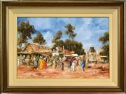 Sale 8316 - Lot 524 - John Guy (1944 - 2000) - Yatala Essay (SE, Qld, c1880) 49 x 74.5cm