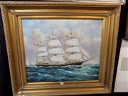 Sale 8429A - Lot 2038 - R.S. Cooper (XX) - Nautical Scene 50 x 59.5cm