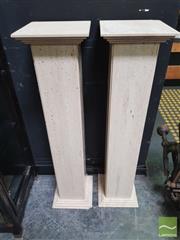 Sale 8455 - Lot 1001 - Pair of Travertine Plinths (H 97 x W 24cm)