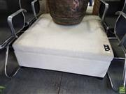 Sale 8585 - Lot 1729 - Cream Upholstered Square Ottoman (40 x 100 x 100cm)