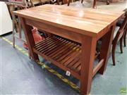 Sale 8601 - Lot 1122 - Hardwood Kitchen Island (H:81 W:120 D:61)