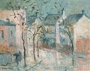 Sale 8683 - Lot 508 - Wilmotte Williams (1916 - 1992) - Paddington Street Scene 38 x 48cm