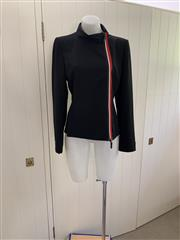 Sale 8694A - Lot 98 - An Emporio Armani black virgin wool sportswear jacket with accents of red/white, size IT. 44