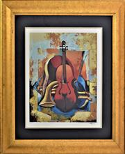 Sale 8778A - Lot 5004 - Igor Kovalev - Symphony I 58.5 x 65cm (frame)