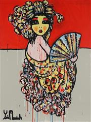 Sale 8826A - Lot 5050 - Yosi Messiah (1964 - ) - Flower Girl 102 x 76cm