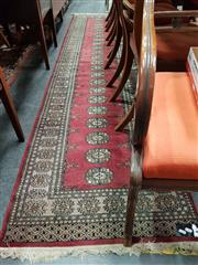 Sale 8834 - Lot 1052 - Red Tone Hall Runner (310 x 78cm)