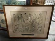 Sale 8924 - Lot 2089 - The Australian Team that Won the Ashes at a Glance, Caricatures