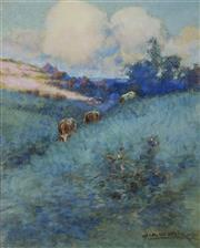 Sale 8972A - Lot 5033 - John Samuel Watkins (1886 - 1942) - Cattle in Landscape 26 x 21 cm