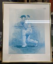 Sale 9011 - Lot 2062 - Don Bradman Signed Print ed 237/850