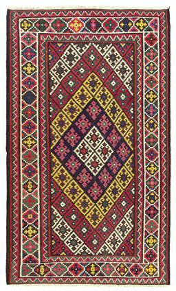 Sale 9090C - Lot 37 - Persian Afshar Kilim Rug, 185x315, Handspun Wool