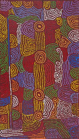 Sale 9128A - Lot 5084 - Masie Campbell Napaltjari - Women's Ceremony, 2014 131 x 74 cm (stretched and ready to hang)