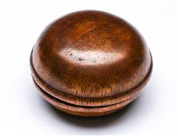 Sale 9144 - Lot 62 - A 19th Century style treen box and cover (Dia:5cm)
