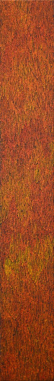 Sale 8288A - Lot 63 - Sarrita King (1988 - ) - Fire 151 x 22cm (framed & ready to hang)