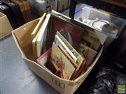 Sale 8483 - Lot 2067 - Box of Prints & Artworks incl a Framed Map of Kent