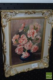Sale 8509 - Lot 2013 - Faye Van Warnar - Pink Bouquet 19 x 14cm