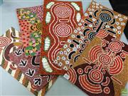 Sale 8622 - Lot 2027 - (6) Aboriginal Artwork by various artists, acrylic on canvas boards, (various sized/ unframed)