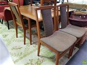 Sale 8629 - Lot 1089 - Vintage Style Five Piece Dining Setting inc Table and Four Chairs