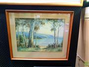 Sale 8659 - Lot 2022 - Arnold Jarvis - Coastal Scene 33.5 x 44.5cm