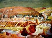 Sale 8678 - Lot 2015 - Donald Friend - Hill End - Panorama, decorative print, 76 x 91 (frame size)