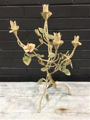 Sale 9006 - Lot 1085 - Metal Floral Candelabra (h:65cm)