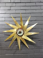 Sale 9022 - Lot 1002A - A brass and aluminium Vitra Turbine Clock by George Nelson (D78cm) (good working order) -
