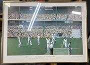 Sale 9011 - Lot 2061 - Dennis Lillee Signed Print 763/850 (53cm x 72cm)