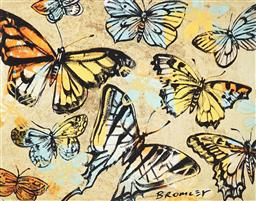 Sale 9080A - Lot 5028 - David Bromley (1960 - ) - Butterflies 72 x 90 cm (frame: 91 x 111 x 4 cm)