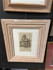 Sale 9041 - Lot 2091 - Edgar James Mayberry Ye Old Shakespeare Inn, Bristol etching, 50 x 42cm (frame) signed