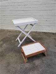 Sale 9059 - Lot 1049 - Modern Tray Table & Smaller Example