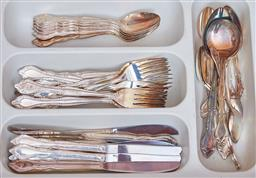 Sale 9103M - Lot 484 - A collection of plated flat wares.