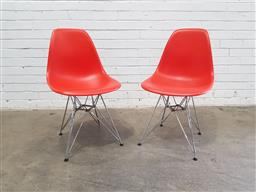 Sale 9134 - Lot 1088 - Pair of Eames Eiffel chairs by Vitra (h:80 x w:46 x d:41cm)