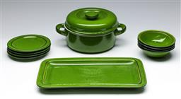 Sale 9153 - Lot 3 - A suite of Flammfest green ceramics by Thomas
