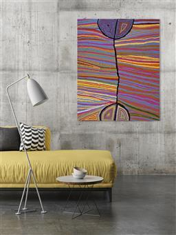 Sale 9171A - Lot 5025 - JUDY NAPANGARDI WATSON (c1925 - 2016) - Mina Mina Hairstring, 2005 152 x 122 cm (stretched and ready to hang)