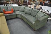 Sale 8284 - Lot 1074 - Large Leather Corner Lounge