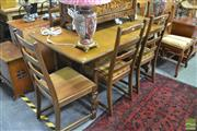 Sale 8289 - Lot 1093 - Timber Seven Piece Dining Setting
