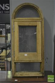 Sale 8361 - Lot 1056 - Timber Arched Window