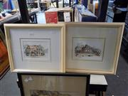 Sale 8422T - Lot 2064 - Lorna Sant (2 works), Paddington & Como Hotel, watercolour and ink, 12.5 x 17.5cm, each signed lower