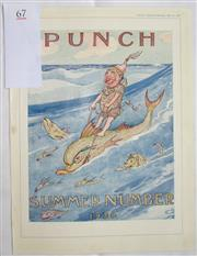 Sale 8431B - Lot 67 - One page illustration in Punch Magazine, May 25, 1936